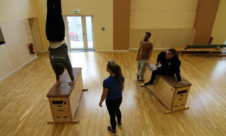 Parkour Lernen Workshops Geflüchtete Hofheim